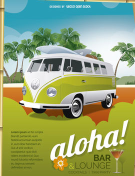 Tropical vacations local poster - Free vector #182447