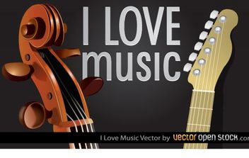 I Love Music - vector gratuit #182527