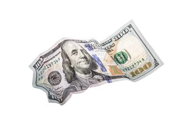 Crumpled hundred dollar - image #182907 gratis