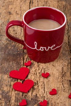 Coffee in cup and hearts - image #183007 gratis