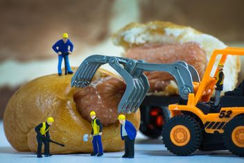 Tiny workers on bakery - Free image #183457