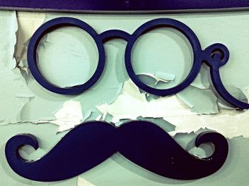 Retro glasses and moustache - image #183637 gratis
