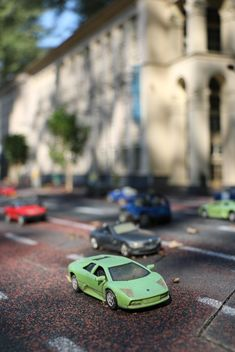 Toy cars on road - image #183717 gratis