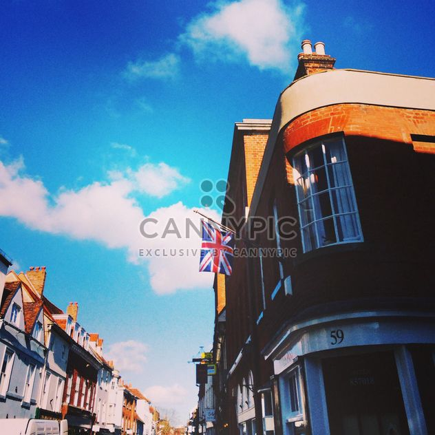 Houses on street of English city - Free image #184137