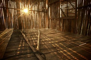 Sunlight Pierces A Bamboo Hut - image gratuit #184287
