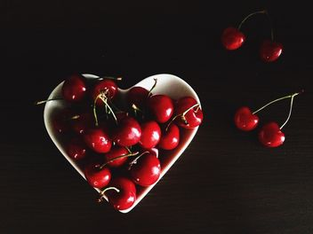 Cherries in a plate - image gratuit #185687
