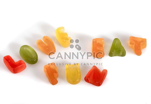 Jelly letters - Free image #185787