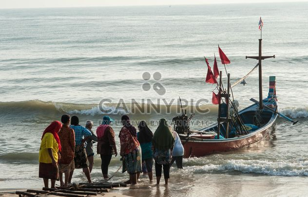 Fishermen returned from sea - Free image #186447