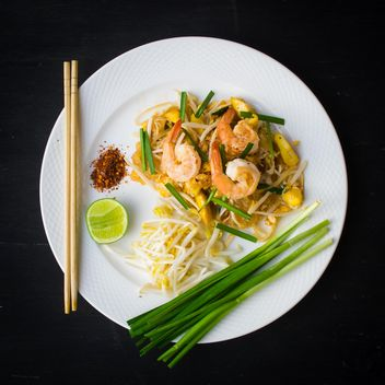 Shrimps pad Thai - Free image #187027