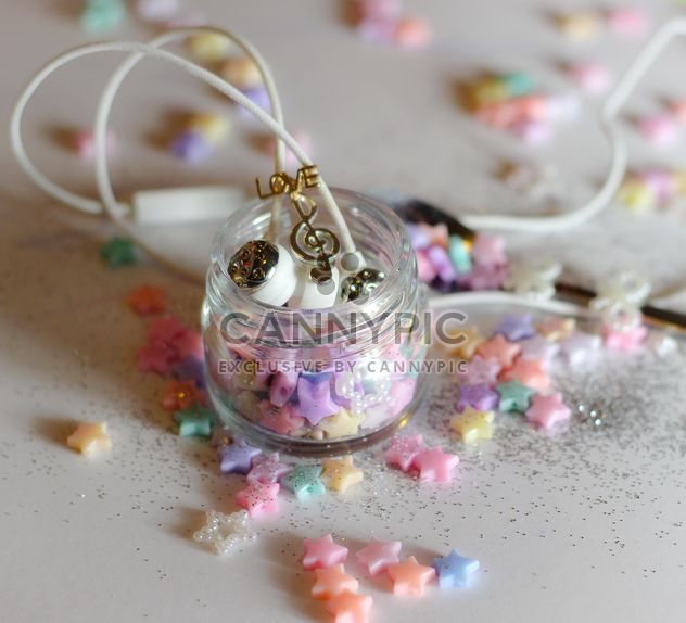 Set of girl's colorful objects with headphones - Free image #187207