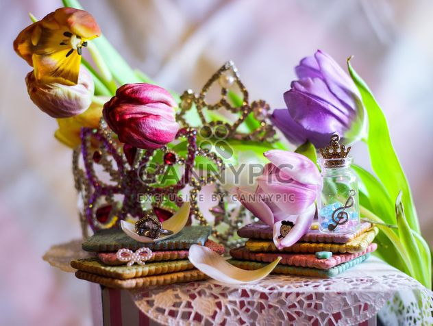 Tulips, cookies and jewelry - Free image #187417