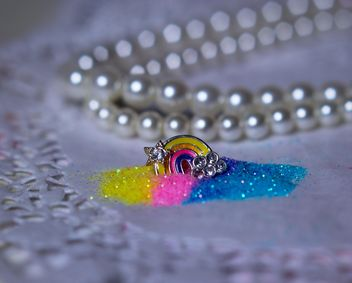 glitter decorations in box - бесплатный image #187427