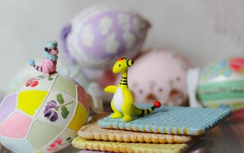Still life with pokemons and easter eggs - бесплатный image #187497