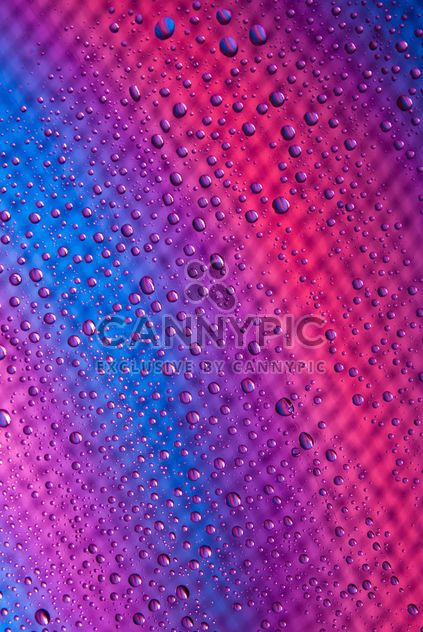Water drops on abstract colored background - Free image #187687