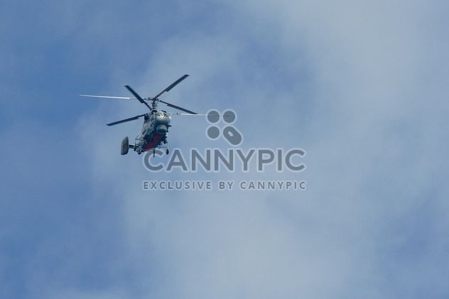 Helicopter in blue sky - Free image #187767