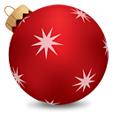 Christmas Ball Red - icon gratuit #190247