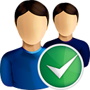 Users Accept - icon gratuit #190757