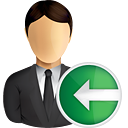 Business User Previous - icon gratuit #191027