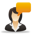 Businesswoman Comment - Free icon #192007