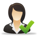 Accept Businesswoman - icon gratuit #192027