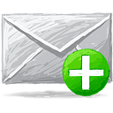 Mail Add - Free icon #193367