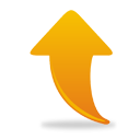 Orange Arrow Up - icon #193817 gratis