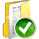 Folder Full Accept - icon gratuit #194007