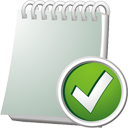 Notebook Accept - icon #195527 gratis