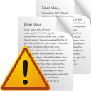 Pages Warning - icon gratuit #195547