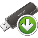 Usb Stick Down - icon gratuit #195707