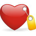Tagged Heart - Free icon #196427