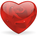 Rosy Heart - Free icon #196437