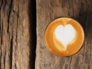 Coffee Latte art heart - бесплатный image #197887