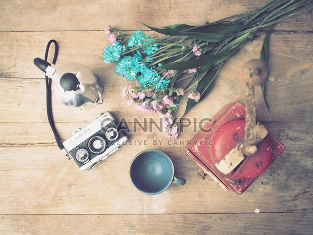 Vintage camera and coffee grinder - Free image #197937