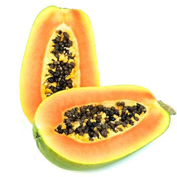 Papaya white background - бесплатный image #197957