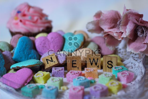 Rainbow cookies decoration with letters - бесплатный image #198357