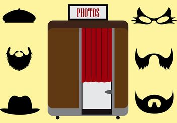 Vector Illustration of a Photobooth and Other Accessories - Kostenloses vector #199067