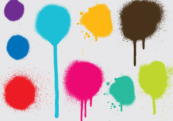 Spray Paint Drip Vectors - Free vector #199087