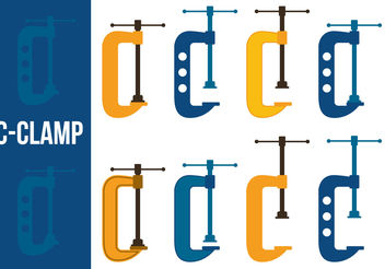 C Clamp Vector Set - Free vector #199157