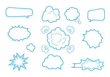 Free Comics Elements Vectors - Free vector #199197