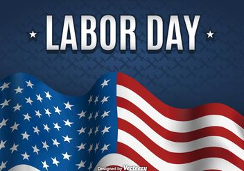 Labor day background - vector gratuit #199227
