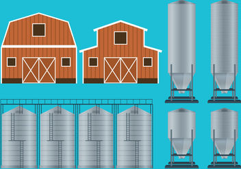 Farm Container Vectors - Free vector #199307