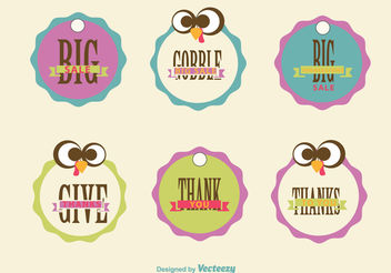 Thanksgiving sale signs - vector gratuit #199337