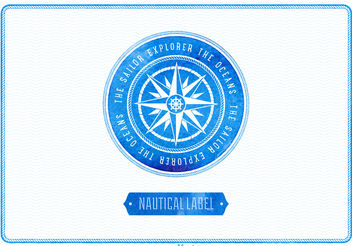 Free Vector Watercolor Nautical Label - Kostenloses vector #199417