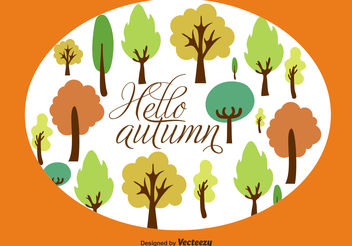 Autumn trees background - vector gratuit #199427