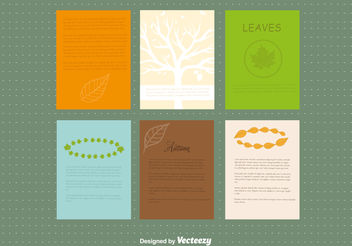 Autumn design leaflet - Free vector #199437