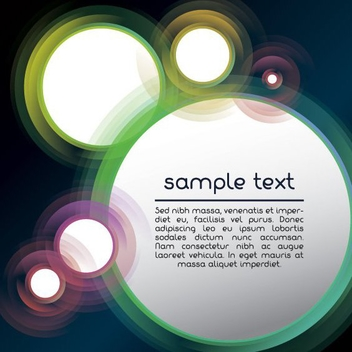 Fluorescent Rainbow Circles Background - vector gratuit #199757