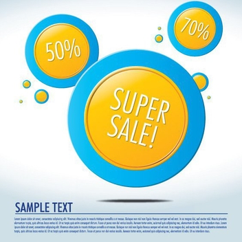 Yellow Circles Promotional Background - Free vector #199787