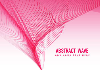 Pink wave flowing - vector gratuit #199847