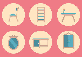 Vector Furniture Icon Set - Free vector #199867
